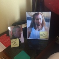 Legendary hotel concierge decorate guest's room with photos of Nic Cage