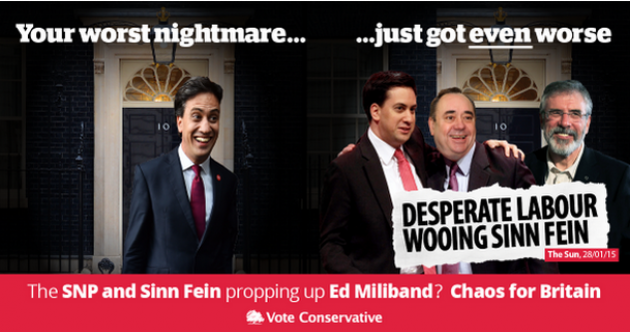 The Tories tried to use Sinn Féin to have a go at Ed Miliband
