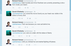 Comedian David O'Doherty engages in epic slagging battle on Twitter