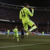 Neymar's double sinks Atletico as Barcelona progress to Copa del Rey semi-finals