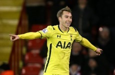 Beckham-esque Eriksen fires Spurs into the Capital One Cup final