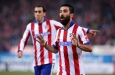 WTF? Atletico's Arda Turan throws his boot at the linesman...and gets a booking!
