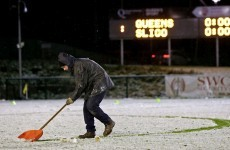 IT Sligo braved some seriously snowy conditions last to defeat Queen's in the Sigerson Cup