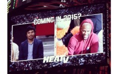 Report: Mayweather, Pacquiao met privately after Heat game