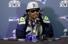 Marshawn Lynch has finally broken his silence ahead of Sunday's Super Bowl