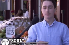 Jimmy Kimmel fools juice-loving hipsters with skittles and sherbet