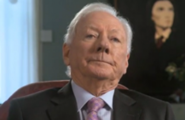 Gay Byrne Does Not Look Impressed With Stephen Fry Talking About An