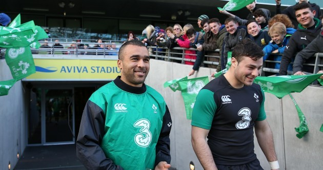 In pics: Paul O'Connell and the Ireland squad trained at the Aviva today