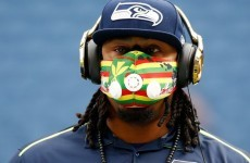 Here's why Seattle Seahawks' Marshawn Lynch wears a Bane-type mask before games