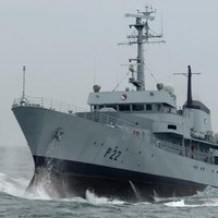 For one last time, you can check out this Irish navy ship that's travelled around the globe