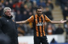Elmohamady nabbed for this 'Hand of God' effort as Carver gets first Newcastle win
