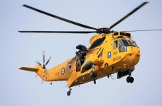 Rescue operation for man swept away while spreading ashes at sea