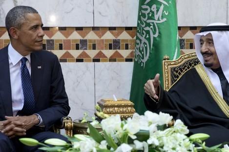 President Barack Obama meets with King Salman.