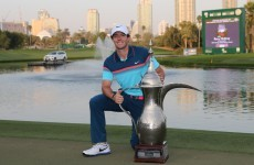 A dominant Rory McIlroy has won the Dubai Desert Classic with a record-equalling score