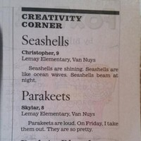 This 9-year-old girl's Poetry Corner entry redefines 'that escalated quickly'