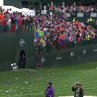 Francesco Molinari's hole-in-one made it rain down beer cans over the weekend