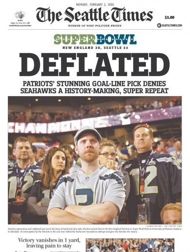 How newspapers in Seattle and New England reacted to the Super Bowl