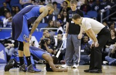 Rajon Rondo suffers nasty double fracture when team-mate knees him in the face