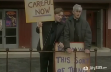 Father Ted and Dougal protest hilariously at Fifty Shades of Grey