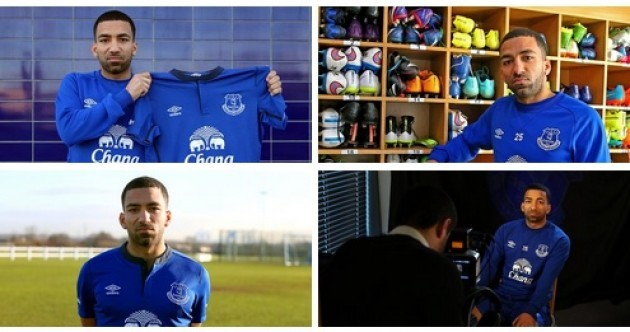 If Aaron Lennon is over-the-moon to join Everton, he's certainly not showing it