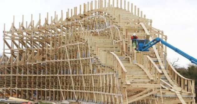 Ireland will soon have the largest inverted wooden rollercoaster in Europe