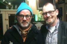 So Michael Stipe was hanging around a barbershop in Dublin last night...