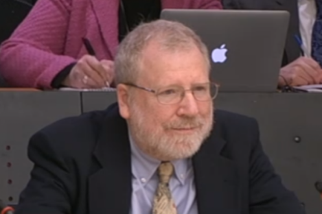 Professor William Black before the banking inquiry this morning