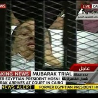 Mubarak appears in court... on his hospital bed