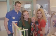 Johnny Sexton and Rachel Wyse are giving up crisps and chocolate for Crumlin Hospital