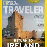 Kerry made it onto the cover of a National Geographic magazine