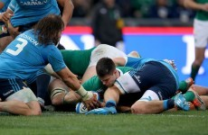 Conor Murray and Tommy O'Donnell scored Ireland's first tries of the 2015 Six Nations