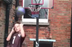 Dublin kid accidentally nails incredible basketball shot (while talking to his mam)