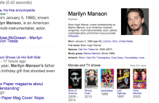 Google, that's not Marilyn Manson...