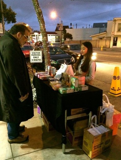 Smartest Girl Scout ever sets up outside a marijuana clinic, sells hundreds of cookies
