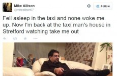 Guy falls asleep in taxi, ends up in driver's house watching Take Me Out