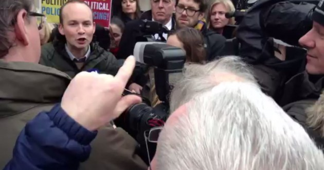 Watch: In a break with tradition, Paul Murphy was upstaged today by a (far) left-wing heckler