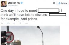 Stephen Fry is desperate to meet one Irish superstar...