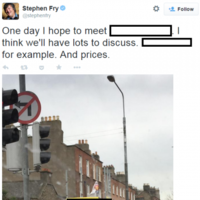 Stephen Fry is desperate to meet one Irish superstar...
