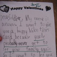 Kid inadvertently sends deeply depressing Valentine's Day card to soldier