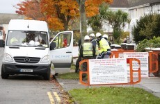 Irish Water contractors are covering up the signs on some of their vans