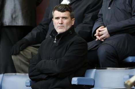 Roy Keane pictured in the stands at the recent Burnley-West Brom game.
