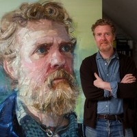 Bidding for this epic painting of Glen Hansard has hit €17,500