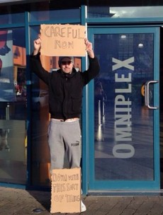 Father Ted style protest outside Wexford cinema showing Fifty Shades of Grey
