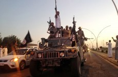 Islamic State suicide bombers attack US forces after seizing town close to their base