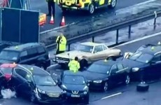 One dead, dozens injured in 40-car UK motorway pile-up