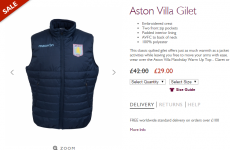 Team Sherwood! Now's the time to buy your official Aston Villa gilet