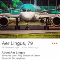 So, Aer Lingus has joined Tinder