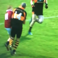 Kieran Donaghy produced this ferocious shoulder in today's All-Ireland semi-final