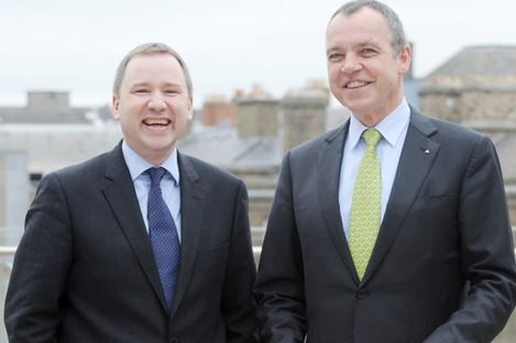 Stephen Kavanagh (left) with current Aer Lingus CEO Christoph Mueller back in 2011.