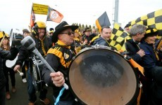 There was one last colourful invasion by the Austin Stacks fans in Portlaoise yesterday
